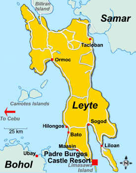 Map of Leyte