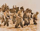 General MacArthur landing at Red Beach, Palo, Leyte