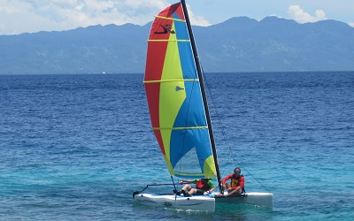 Sailing in Sogod Bay